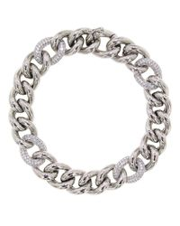 Cosanuova - Metallic Essential Pave Link Bracelet - Lyst