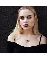 Sally Lane Jewellery Metallic Boomerang Gold Earrings