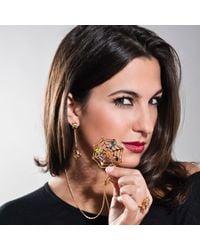 Manja - Metallic Anansi Earrings Gold - Lyst