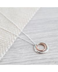 Auree Jewellery - Metallic Ifield Sterling Silver & 18ct Rose Gold Rings Necklace - Lyst