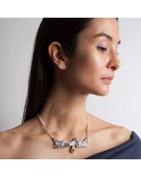 Loveness Lee - Metallic Titanic Chunky Statement Sterling Silver Necklace - Lyst