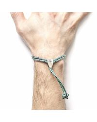 Anchor & Crew - Green Dash Pembroke Rope Bracelet for Men - Lyst