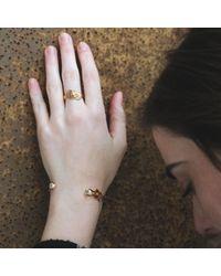 MARIE JUNETM Jewelry - Metallic Figure 8 Knot Rose Gold Ring - Lyst