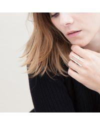 Nina Kastens Jewelry Metallic Initial Ring Silver