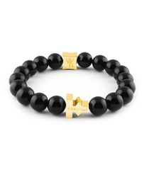 Tissuville Multicolor Black Shiny Stones Bracelet Gold Fabula Bracelet