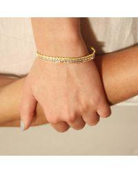 Tada & Toy Metallic Spiny Lizard Chain Bracelet Gold