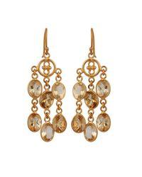 Carousel Jewels - Metallic Elegant Gold & Citrine Dangle Earrings - Lyst