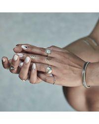 No 13 - Metallic Leo Constellation Signet Ring Diamonds & Oxydised Silver - Lyst