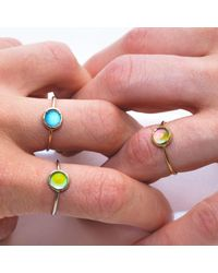 moodlit Multicolor Yellow Gold Mood Ring