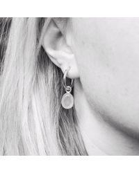 Auree Jewellery - Metallic Manhattan Sterling Silver & Aqua Chalcedony Interchangeable Gemstone Hoop Earrings - Lyst