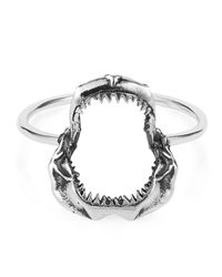 Lee Renee | Metallic Shark Jawbone Ring Silver | Lyst