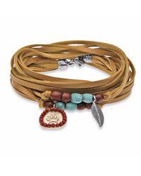 Platadepalo | Metallic Classic American Indian Yellow Bracelet | Lyst