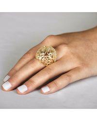 Sonal Bhaskaran - Metallic Shikhara Gold Dome Ring Clear Cz - Lyst