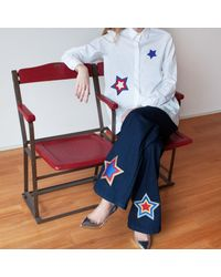 My Pair Of Jeans Blue Stars Embroidered Shirt