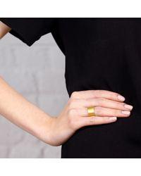 Maya Magal - Metallic Brushed Band Ring Gold - Lyst
