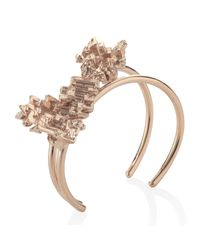 Noritamy | Metallic Rose Gold Bangle | Lyst