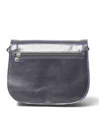 Maxwell Scott Bags - Blue Luxury Italian Leather Women's Saddlebag Purse Medium Medolla M Navy - Lyst