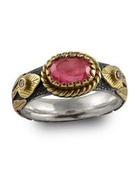 Emma Chapman Jewels - Multicolor Pink Sapphire & Diamond Treasure Gold Ring - Lyst