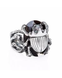 Yasmin Everley Jewellery Metallic Little Scarab Cocktail Ring