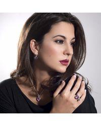 Manja - Lana Amethyst And Blue Topaz Earrings - Lyst
