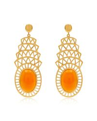 Alexandra Alberta - Metallic Khrysler Light Orange Carnelian Earrings - Lyst
