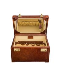 Maxwell Scott Bags - Brown Luxury Italian Leather Women's Vanity Case Bellino Classic Chestnut Tan - Lyst