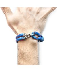 Anchor & Crew - Blue Great Yarmouth Silver & Rope Bracelet for Men - Lyst
