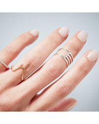 KIND Jewellery - Metallic Rose Gold Eclipse Ring - Lyst