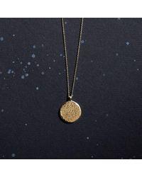 KIND Jewellery - Metallic Gold Full Moon Disc Necklace - Lyst