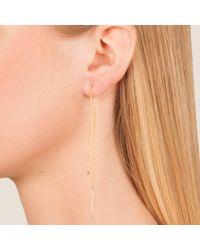Dutch Basics Metallic Cylinder Drop Chain Earrings Gold