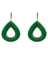 Latelita London | Stingray Hollow Teardrop Earring Emerald Green | Lyst