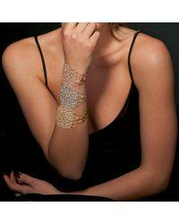 Latelita London - Metallic Gold Filigree Bracelet Peridot - Lyst