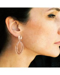 GFG Jewellery - Metallic Lily Rose Earrings - Lyst