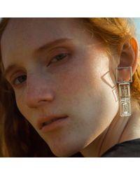 J.Y. GAO - Metallic Square To Cube Earrings - Lyst