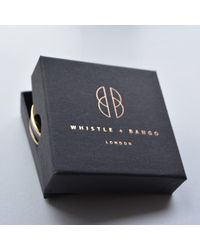 Whistle & Bango - Multicolor 'o' Letter 24ct Bangle Black - Lyst