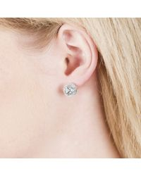 Sonal Bhaskaran - Metallic Svar Silver Stud Earrings Clear Cz - Lyst