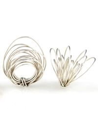 Linnie Mclarty - Metallic Wrapt Silver Ring - Lyst