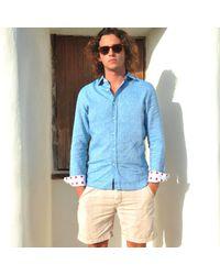 Tobias Clothing | Narmada Blue Linen Shirt for Men | Lyst
