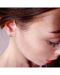 Agnes De Verneuil - Metallic Silver Stud Earrings Small Sun - Lyst