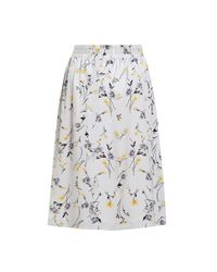 Paisie Multicolor Midi Floral Skirt With Elasticated Waist