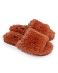 Pretty You London Red Candy On-trend Slider Slippers In Spice