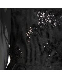 Jelena Bin Drai - Black Sequin Net Chiffon Dress - Lyst