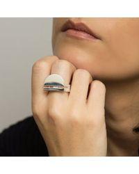 KIMSU Metallic Sterling Silver Arco Ring