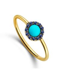 Elham and Issa Jewellery - Blue Awe Sapphire Ring - Lyst