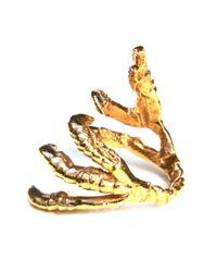 Tessa Metcalfe Metallic Gold Pigeon Grasp Ring