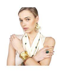 Carousel Jewels - Metallic Adjustable Crumpled Curved Gold Cuff - Lyst