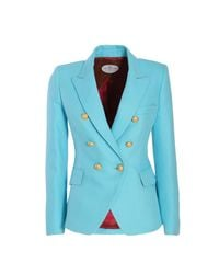 The Extreme Collection Classic Sky Blue Crossed Blazer Chloe