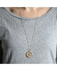 Bark - Metallic Silver Sunburst Necklace - Lyst