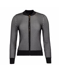 NY CHARISMA Black & White Two-tone Waffle Pattern Jacket