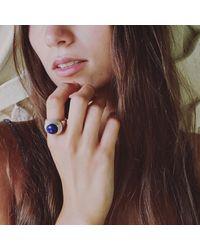 Puck Wanderlust - Multicolor Silver Lapis Lazuli Power Ring - Lyst